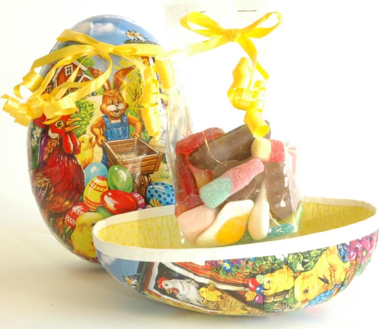 Påskeegg 15cm med godteri ca.120g