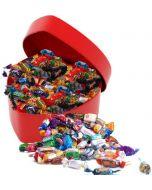 chocolate in heart box Hjerteform Ferrero Rochet, Nettbutikk bryllup, alt til bryllupet,  fruktkurv som gaver, bestille fruktkurv gave, fruktkurv gave, gavekurv frubordpynt bryllup, bryllup dekorasjon til leie,bryllup, gaver til ansatte, sjokolade som ga