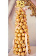 Ferrero Rocher tre Firmagaver med logo, julegaver til personalet, julegaver til ansatte, julegavertips til ansatte, firmagaver til jul, julegaver fruktkurv, julegaver sjokolade, julegaver ansatte, Sjokolade gaver nettbutikk, sjokolade konfekt nettbutikk,