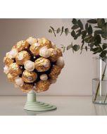 Ferrero Rocher Bukett, Firmagaver med logo, julegaver til personalet, julegaver til ansatte, julegavertips til ansatte, firmagaver til jul, julegaver fruktkurv, julegaver sjokolade, julegaver ansatte,Sjokolade gaver nettbutikk, sjokolade konfekt nettbuti