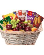 Fruktkurv 5kg med Kjeks og sjokolade som gaver levers rett på døra, fruktkurv som gaver, bestille fruktkurv gave, fruktkurv gave, gavekurv frukt, gavekurv med mat, fruktkurv til ansatte, matgaver til ansatte, matgaver til kunder, send fruktkurv, send blo