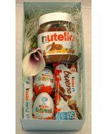 Kinder og Nutella gaver i boks Hjerteform Ferrero Rochet, Nettbutikk bryllup, alt til bryllupet,  fruktkurv som gaver, bestille fruktkurv gave, fruktkurv gave, gavekurv frubordpynt bryllup, bryllup dekorasjon til leie,bryllup, bryllupspynt, borddekorasjo
