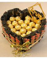 Mars med Ferrero Rocher Firmagaver med logo, julegaver til personalet, julegaver til ansatte, julegavertips til ansatte, firmagaver til jul, julegaver fruktkurv, julegaver sjokolade, julegaver ansatte,Sjokolade gaver nettbutikk, sjokolade konfekt nettbut