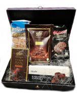 Sjokolade gaver i Elegant boks Sjokolade gaver nettbutikk, sjokolade konfekt nettbutikk, sende sjokolade på døra, konfekt på døra, konfekt gaver på nett, sjokolade som gaver, sjokoladekurv gaver, fruktkurv som gaver, julegaver, sjokolade gaver, firmagave