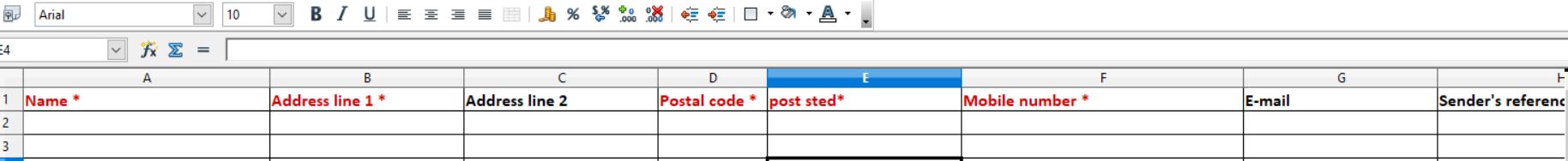 Excel eksempel