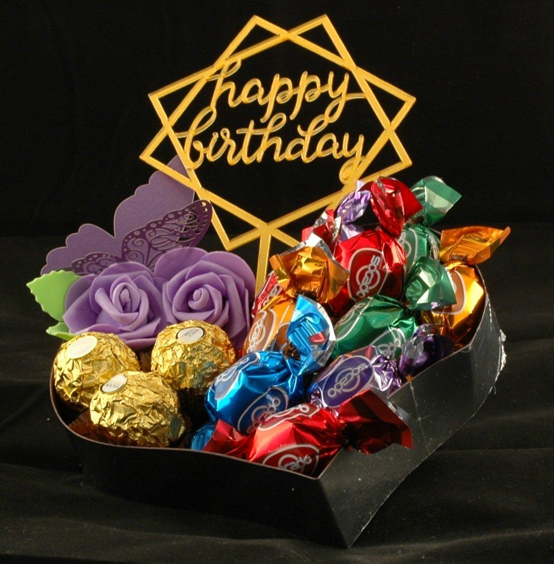 Delikate Hjerteform med sjokolade 24x25cm