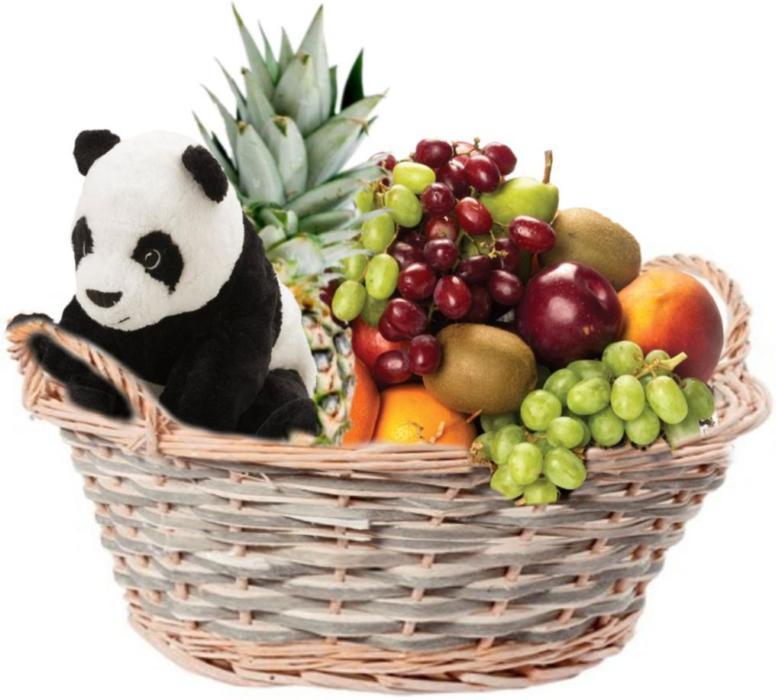 Fruktkurv 5kg med bamse