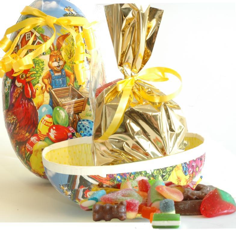 Påskeegg 25cm Løsvekt Sjokolade, godteri og Marsipan ca.1000g