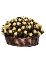 Ferrero Rocher gavekurv , Sjokolade gaver nettbutikk, sjokolade konfekt nettbutikk, sende sjokolade på døra, konfekt på døra, konfekt gaver på nett, sjokolade som gaver, sjokoladekurv gaver, fruktkurv som gaver,, Firmagaver med logo, julegaver til perso