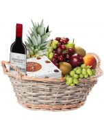 Fruktkurv 5kg med vin og konfekt