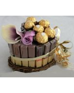 Merci sjokolade Hjerteform Ferrero Rochet, Nettbutikk bryllup, alt til bryllupet,  fruktkurv som gaver, bestille fruktkurv gave, fruktkurv gave, gavekurv frubordpynt bryllup, bryllup dekorasjon til leie,bryllup, bryllupspynt, borddekorasjon bryllup, bry