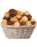 Muffinskurv 20stk, Muffinskurv som gaver levers på døra, fruktkurv som gaver, bestille fruktkurv gave, fruktkurv gave, gavekurv frukt, gavekurv med mat, fruktkurv til ansatte, matgaver til ansatte, matgaver til kunder, send fruktkurv, send blomster, oste