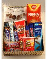 Sjokolade gaver i boks Hjerteform Ferrero Rochet, Nettbutikk bryllup, alt til bryllupet,  fruktkurv som gaver, bestille fruktkurv gave, fruktkurv gave, gavekurv frubordpynt bryllup, bryllup dekorasjon til leie,bryllup, bryllupspynt, borddekorasjon bryllu
