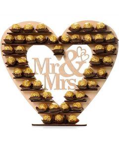 Ferrero Rocher Mr and Mrs stand, Sjokolade gaver nettbutikk, sjokolade konfekt nettbutikk, sende sjokolade på døra, konfekt på døra, konfekt gaver på nett, sjokolade som gaver, sjokoladekurv gaver, fruktkurv som gaver,