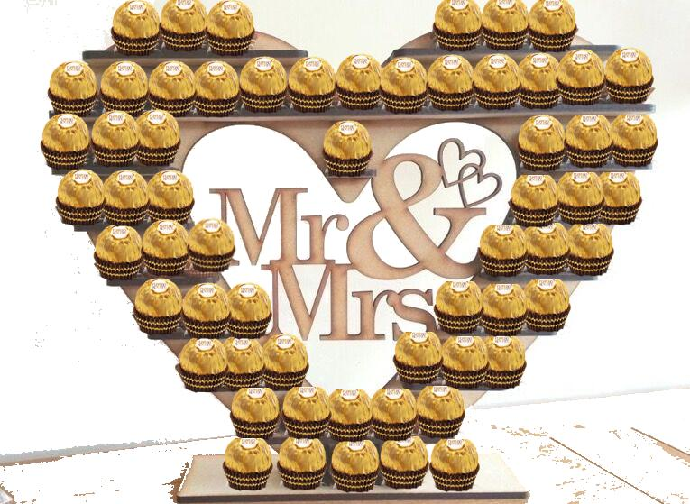 Ferrero Rocher Mr and Mrs stand  bryllupsgave