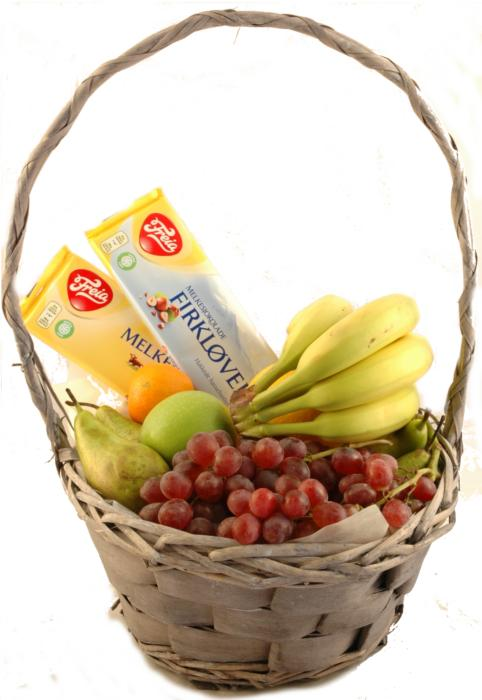 Fruktkurv 3kg med Sjokolade